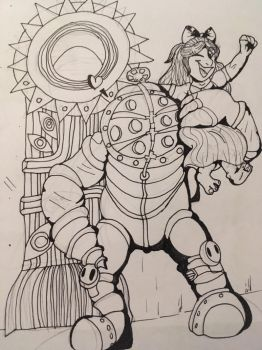 MR Bubbles inked! by GingerStars
