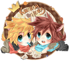 KH - chibis by peachmomo