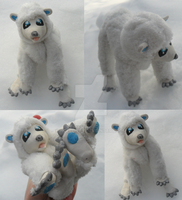 Arctic Polar Bear Doll by Noellisty