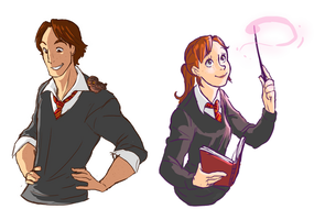 HP AU: Nod and MK by kemiobsesses