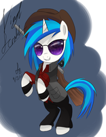 Vinyl Scratch Sniper by SketchBookFiM