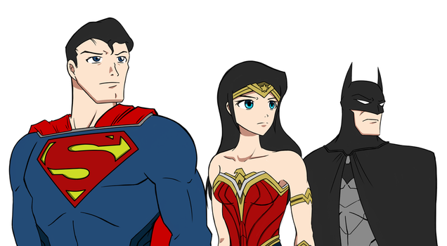 DC's Trinity - Justice League Unlimited Tribute by TakarinaTLD93