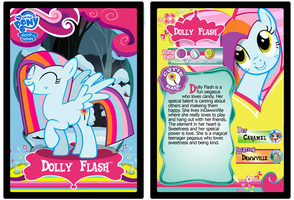 Dolly Flash trading card by cottoncloudyfilly