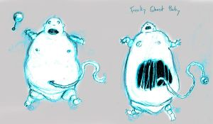 Freaky Ghost Baby 2 by gomezvsrufio