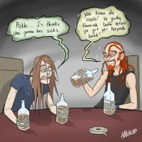 Toki and Pickles playing Edward-forty-hands by ash-vickers