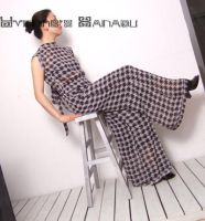 Black White Checked Jumpsuit16 by yystudio