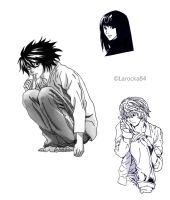 Death Note beloved characters by Larocka84