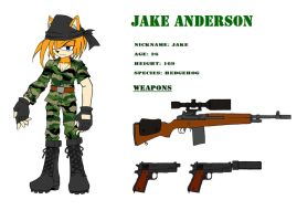 .:Sonic OCs:. Jake Anderson (2014 Edited) REF by MJSonic1993