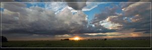 Monsoon Storm Panorama by Delusionist
