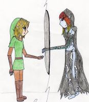 Through the Mirror -LinkxMidna by Strawberry-Skittle