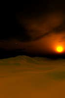 Midnight sun for ihone4 by teddybearcholla