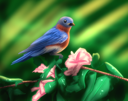 Bluebird Painting by geekgirl8