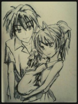 Clannad After Story Sketch by GloriaMarie74