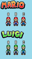 New SMBHotS Mario and Luigi Color Palette Choices by KingAsylus91