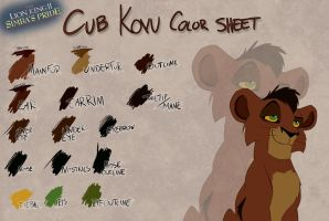 Cub Kovu color sheet by Takadk