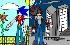 Sonic and Shadow-Oposites by Rox-ma-Sox