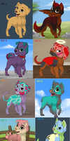 Puppy Adoptions by LilChibiOokamiMango