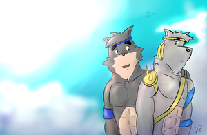 Art Trade - You always will be my brother by DinoJ-13