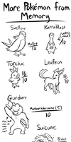 More Pokemon from Memory by BlazeDGO
