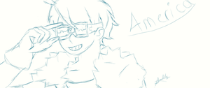 Aph: America Sketch by Moonylight12