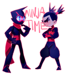 Ninja Buddies by lazerfight