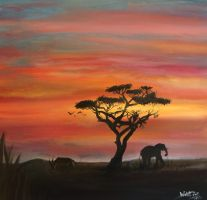 African Sunset by wakDoOm