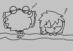 (GIF) Snoozing Together by CaffrinLuvsDHMIS