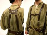 Leather Belt Suspenders by Marcusstratus