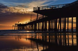 Pismo Beach Pier Sunset by robgbob