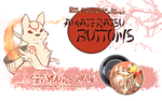Amateratsu buttons on sale! by Sony-Shock