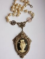 Edgar Poe Necklace 2 by Pinkabsinthe