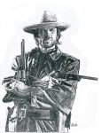 Outlaw Josey Wales by thorr by PortraitPencilArt