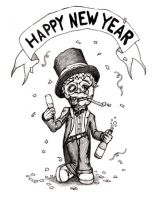 Zombie New Year by cleophus