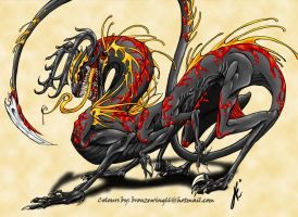 Salamander monster by Bronzewinged
