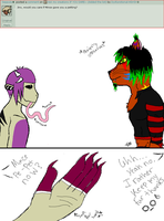 ask my creations 16: Jinx the cat human hybrid by Dysfunctional-H0rr0r