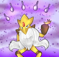 Mega Alakazam by KarlaDraws14