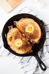 Bacon Cheddar Grilled Cheese Egg in a Hole by bittykate
