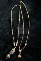 Labradorite Cluster Necklace 1 by BenaeQuee