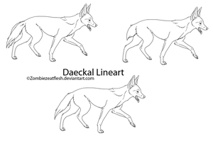 Daeckal Lineart Set by ZombiezEatFlesh