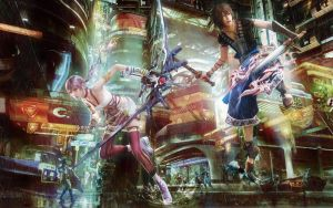 Serah and Noel Wallpaper by FinalFantasyFanGirl2