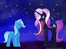 .: Trixie vs Nightmare Rarity :. by ASinglePetal