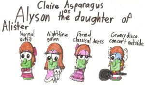 Veggie Tales: AaCNF - Claire Asparagus as Alyson by Magic-Kristina-KW