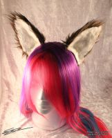 Large Brown Cat Furry Cosplay Flexi Ears by LiChiba