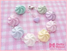 Pastel Marshmallows Bracelet by SweetDollyHouse
