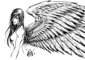 Commission: Angel Inked Art by LRCommissions