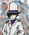 Kaitou Kid Touchpad Iscribble Background by mimidan