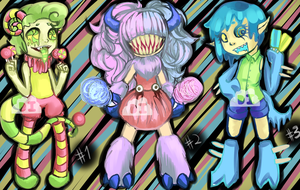Candy Monster Adopts [CLOSED] by DreaminInsomniac