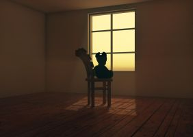 Abandoned Bear 3D by MyBurningEyes