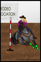 Spanky - Pole Bending by painted-cowgirl
