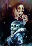 Undertale Blind Arttrade Project 2016 by whitmoon